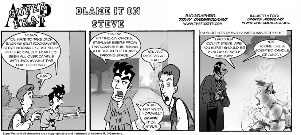 Blame it on Steve